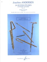 18 Petites Etudes Op. 41 Joachim Andersen Partition laflutedepan.com