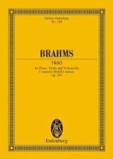 Klavier-Trio C-Moll, Op. 101 BRAHMS Partition laflutedepan.com