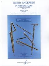 24 Petites études op. 33 Joachim Andersen Partition laflutedepan.com