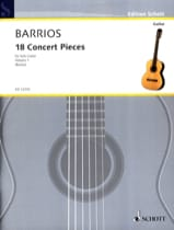 Mangore Agustin Barrios - 18 Pieces Concert, Bd 1 - Sheet Music - di-arezzo.com