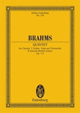 Quintett h-moll op. 115 -Partitur BRAHMS Partition laflutedepan.com