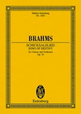 Schicksalslied, op. 54 BRAHMS Partition laflutedepan.com