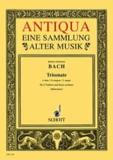 BACH - Triosonate C-Dur - 2 Violinen u. Bc - Stimmen - Sheet Music - di-arezzo.co.uk