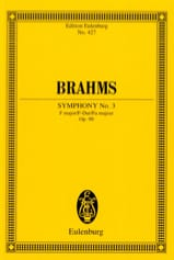 BRAHMS - Symphony No. 3 F Major Op. 90 - Conductor - Sheet Music - di-arezzo.co.uk
