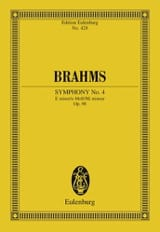 BRAHMS - Symphonie N° 4 E Minor Op. 98 - Conducteur - Partition - di-arezzo.fr