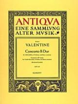 Robert Valentine - Concerto B-Dur –Altobloflöte 2 Violinen BC - Partition - di-arezzo.fr