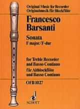 Sonata F-Dur - ALtblockflöte u. BC Francesco Barsanti laflutedepan.com