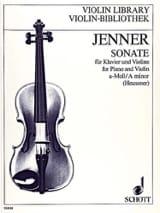 Sonate la mineur - Gustav Jenner - Partition - laflutedepan.com