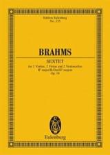 Streich-Sextett B-Dur op. 18 BRAHMS Partition laflutedepan
