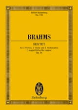 Streich-Sextett G-Dur, Op. 36 BRAHMS Partition laflutedepan.com