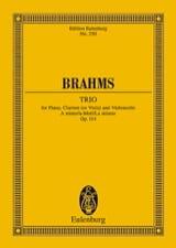 Trio A-Moll, Op. 114 La Min. - Conducteur BRAHMS laflutedepan.com