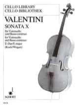 Giuseppe Valentini - Sonata n° 10 E-Dur - Partition - di-arezzo.fr