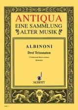 Tomaso Albinoni - 3 Triosonaten op. 1/10-12 –Stimmen - Partition - di-arezzo.fr