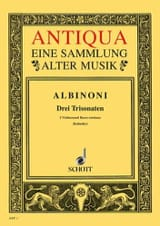 3 Triosonaten op. 1/10-12 -Stimmen Tomaso Albinoni laflutedepan.com