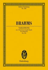 Variationen Op. 56a Johannes Brahms Partition laflutedepan.com