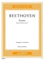 Sonate op. 47 Kreutzer-Sonate BEETHOVEN Partition laflutedepan.com