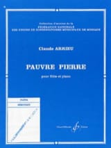Pauvre Pierre Claude Arrieu Partition laflutedepan.com