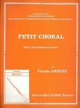 Petit choral Claude Arrieu Partition Clarinette - laflutedepan.com