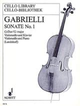 Domenico Gabrielli - Sonate n° 1 G-Dur - Partition - di-arezzo.fr