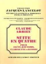 Suite en quatre -Conducteur + parties Claude Arrieu laflutedepan.com