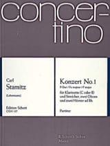 Carl Stamitz - Klarinetten-Konzert Nr. 1 F-Dur – Partitur - Partition - di-arezzo.fr