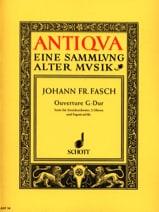 Johann Friedrich Fasch - Ouverture G-Dur - Partitur - Partition - di-arezzo.fr