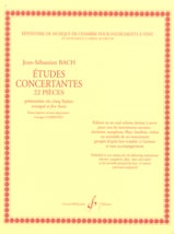 BACH - Concerted Studies - 22 Pieces - Sheet Music - di-arezzo.co.uk