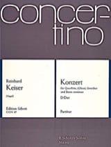 Reinhard Keiser - Konzert D-Dur für Flöte o. Oboe - Partitur - Partition - di-arezzo.fr
