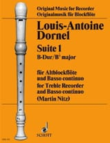 Louis-Antoine Dornel - Suite 1 B-Dur – Altblockflöte u. Bc - Partition - di-arezzo.fr