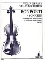 4 Sonaten op. 12 - Francesco Antonio Bonporti - laflutedepan.com
