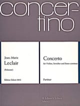 Jean-Marie Leclair - Concerto pour violon op. 10 n° 1 - Conducteur - Partition - di-arezzo.fr