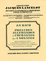 BACH - Preludes, German and Common 4 Sonatas - Clarinet - Sheet Music - di-arezzo.com