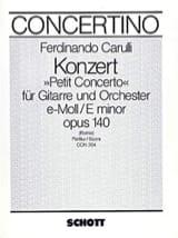 Petit Concerto e-moll op. 140 - Gitarre Orchester laflutedepan.com