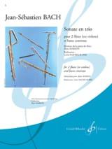BACH - Sonate en trio –2 Flûtes et basse chiffrée - Partition - di-arezzo.fr