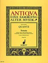 Johann Joachim Quantz - Sonata d-moll –Flöte Violine (Oboe) u. Bc - Partition - di-arezzo.fr