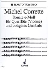 Michel Corrette - Sonate e-moll op. 25 n° 4 - Flöte (Violine) obl. Cembalo - Partition - di-arezzo.fr