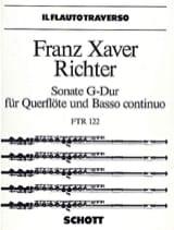 Sonate G-Dur – Flöte und Bc Franz Xaver Richter laflutedepan.com