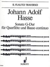 Johann Adolf Hasse - Sonate G-Dur - Flöte u. Bc - Partition - di-arezzo.fr