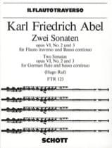 Carl Friedrich Abel - 2 Sonaten, op. 6 Nr. 2 und 3 - Flöte Bc - Partition - di-arezzo.fr