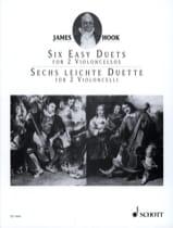 6 Leichte Duette Op. 58 - James Hook - Partition - laflutedepan.com