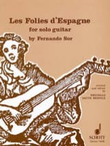 Fernando Sor - The madnesses of Spain - Sheet Music - di-arezzo.co.uk