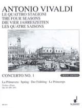 Concerto La Primavera op. 8 n° 1 VIVALDI Partition laflutedepan.com
