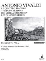 Concerto L'estate op. 8 n° 2 VIVALDI Partition laflutedepan.com