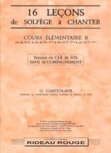 16 Leçons - Elém. B - Clé de Sol - sans accompagnement laflutedepan.com