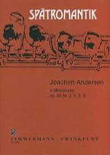 4 Miniaturen op. 55 n° 2, 4, 5, 8 Joachim Andersen laflutedepan.com