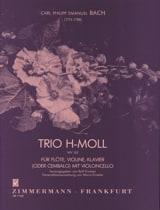 Carl Philipp Emanuel Bach - Trio en Si Mineur Wq 143 - Partition - di-arezzo.fr
