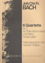 Johann Christoph Friedrich Bach - 6 Flötenquartette (Nr. 2) – Flöte, Violine, Viola u. Bass (Violoncello) - Partition - di-arezzo.fr