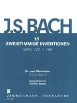 BACH - 15 Zweistimmige Inventionen Für 2 Klarinetten - 2 Clarinettes - Partition - di-arezzo.fr