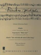 Adagio BWV 249, Arie BWV 244, 117 - Flöte Klavier laflutedepan.com