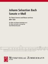 BACH - Sonate e-moll BWV 1034 - Flöte Gitarre - Partition - di-arezzo.fr